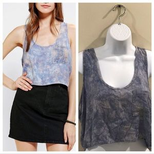 Urban Outfitters | Ecote Crop Top Blue Large